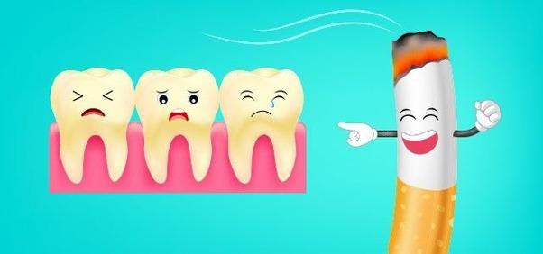 ضرر سیگار برای دندان چیست
