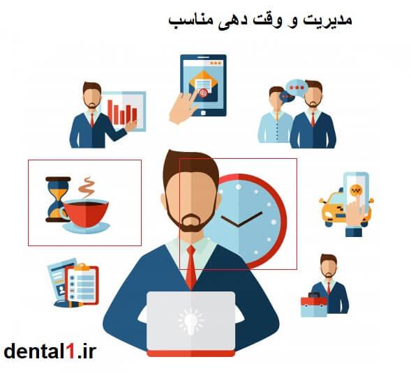 مدیریت و وقت دهیی مناسب نشانه احترام به مشتری