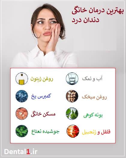 درمان خانگی دندان درد